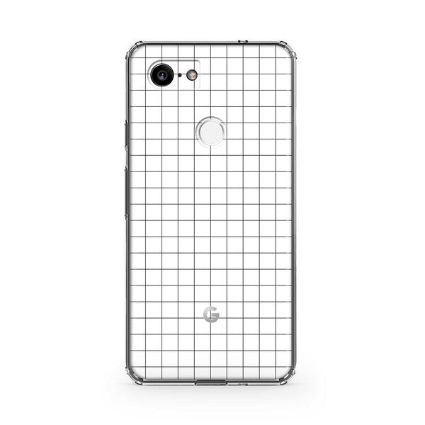 White Grid Line Pixel 3, Pixel 3 XL, Pixel 3a and Pixel 3a XL Case
