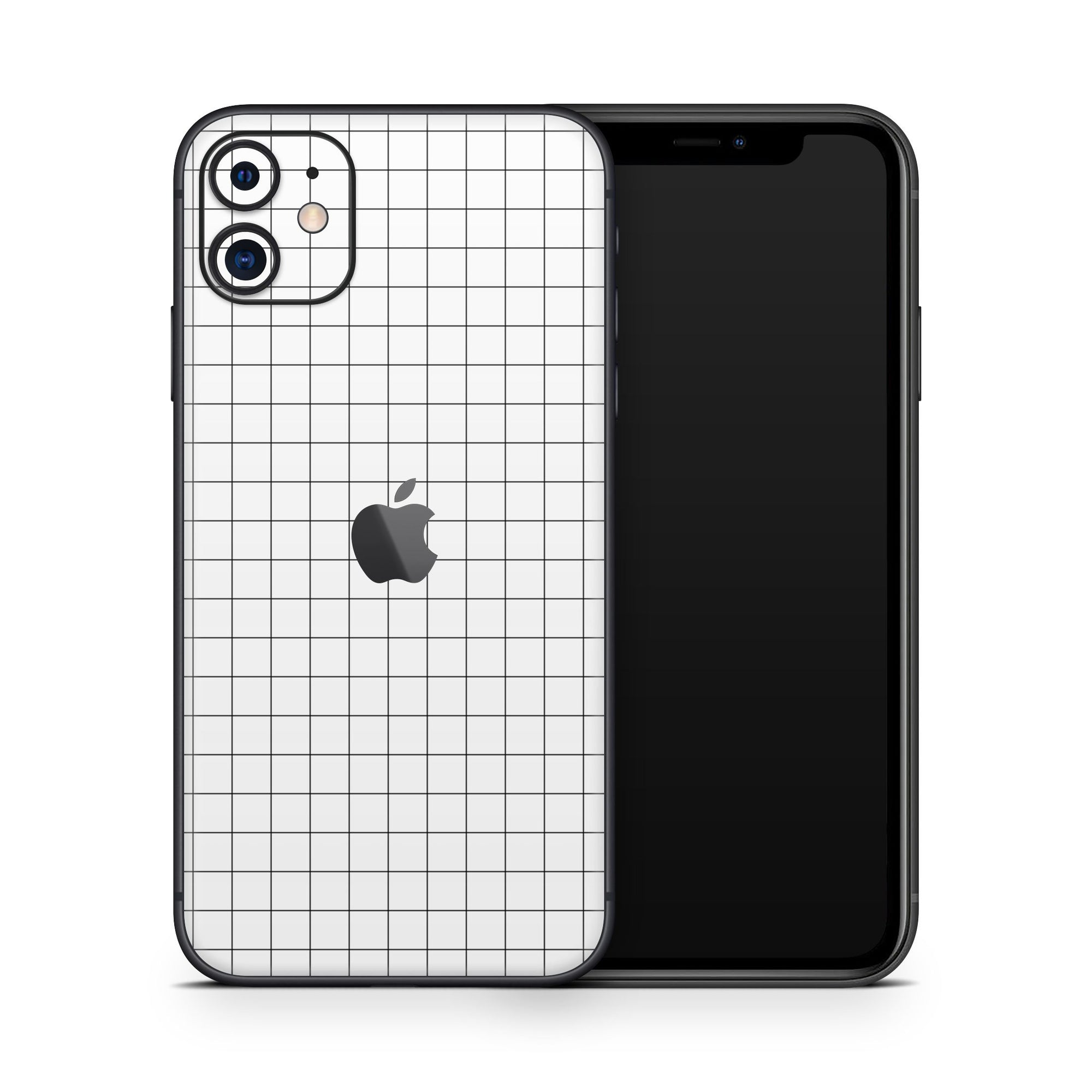 White Grid Cover iPhone 11