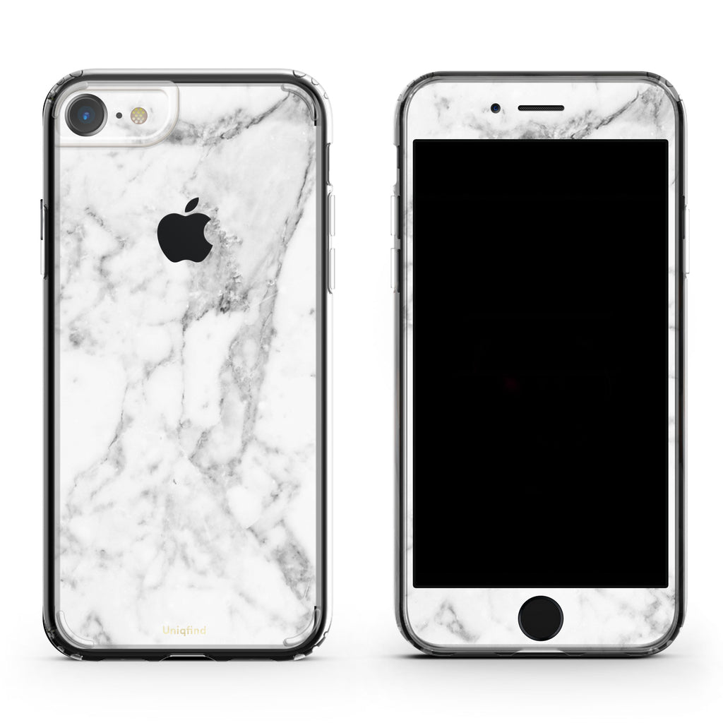 wholesale dealer 637bf eb841 White Marble iPhone Skin + Case