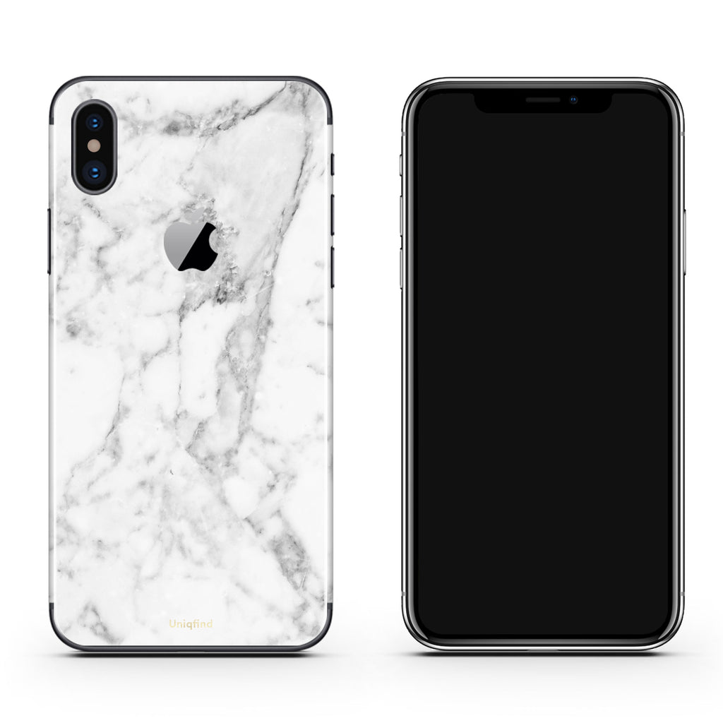 wholesale dealer ba0b0 2a65c White Marble iPhone Skin + Case