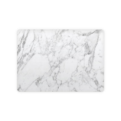White Marble Magic Trackpad 2 Top and Bottom Skin