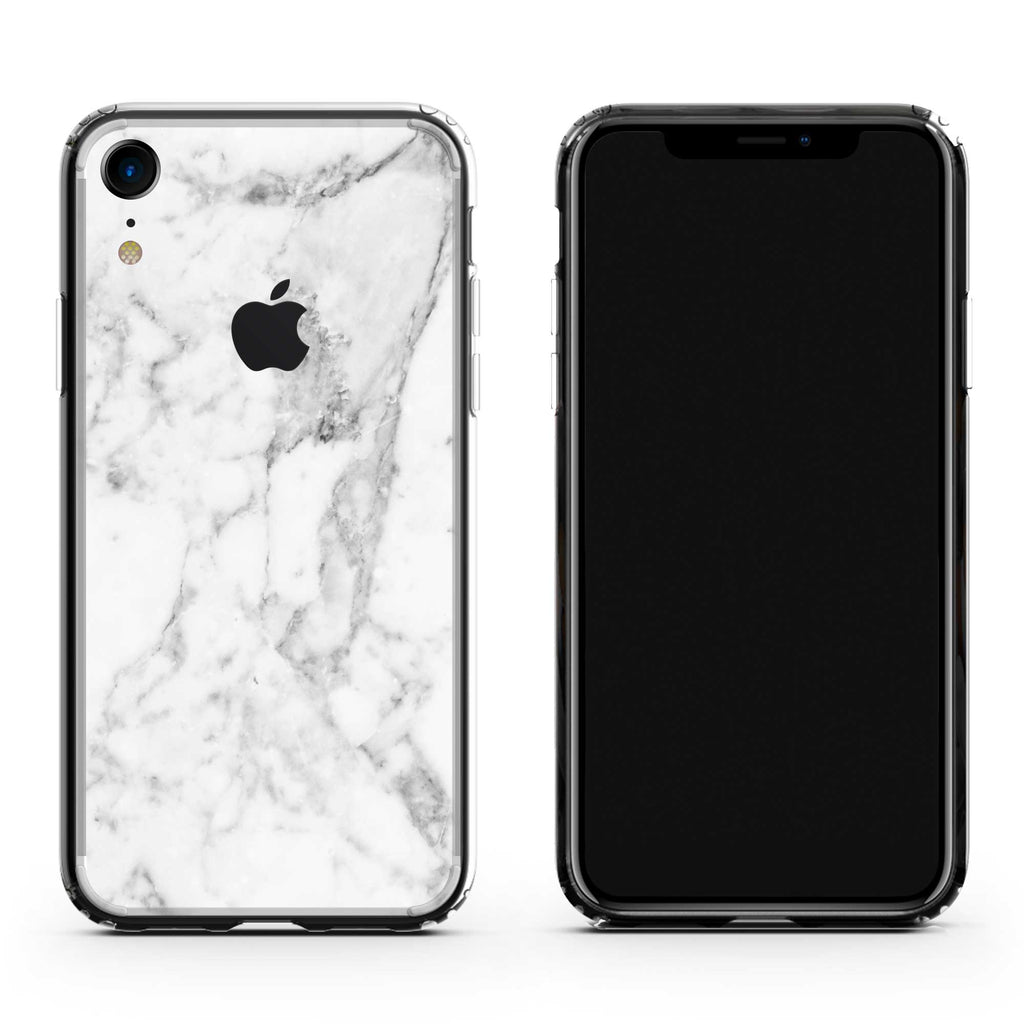 wholesale dealer 794ad 52768 White Marble iPhone Skin + Case