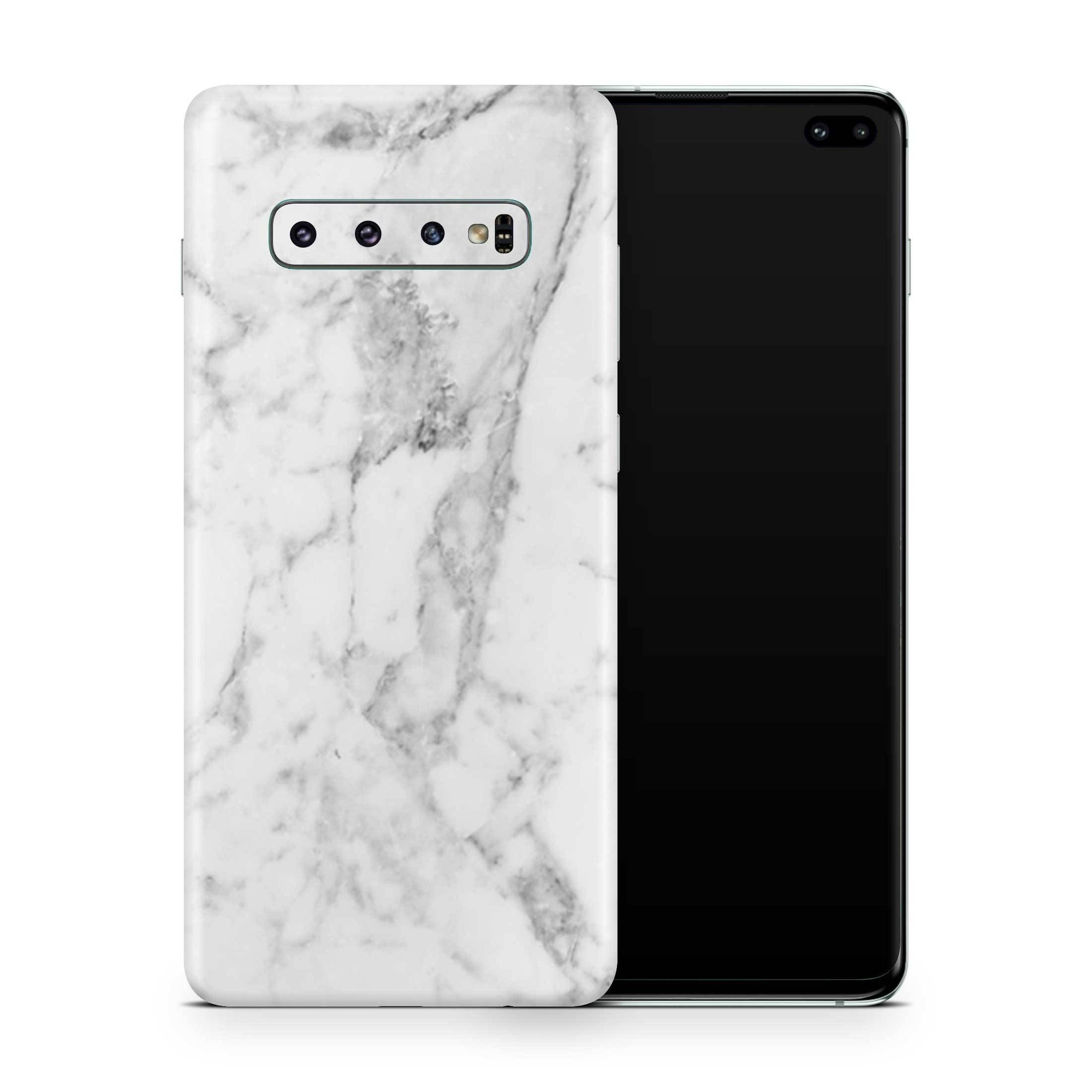 White Marble Galaxy S10e Skin + Case