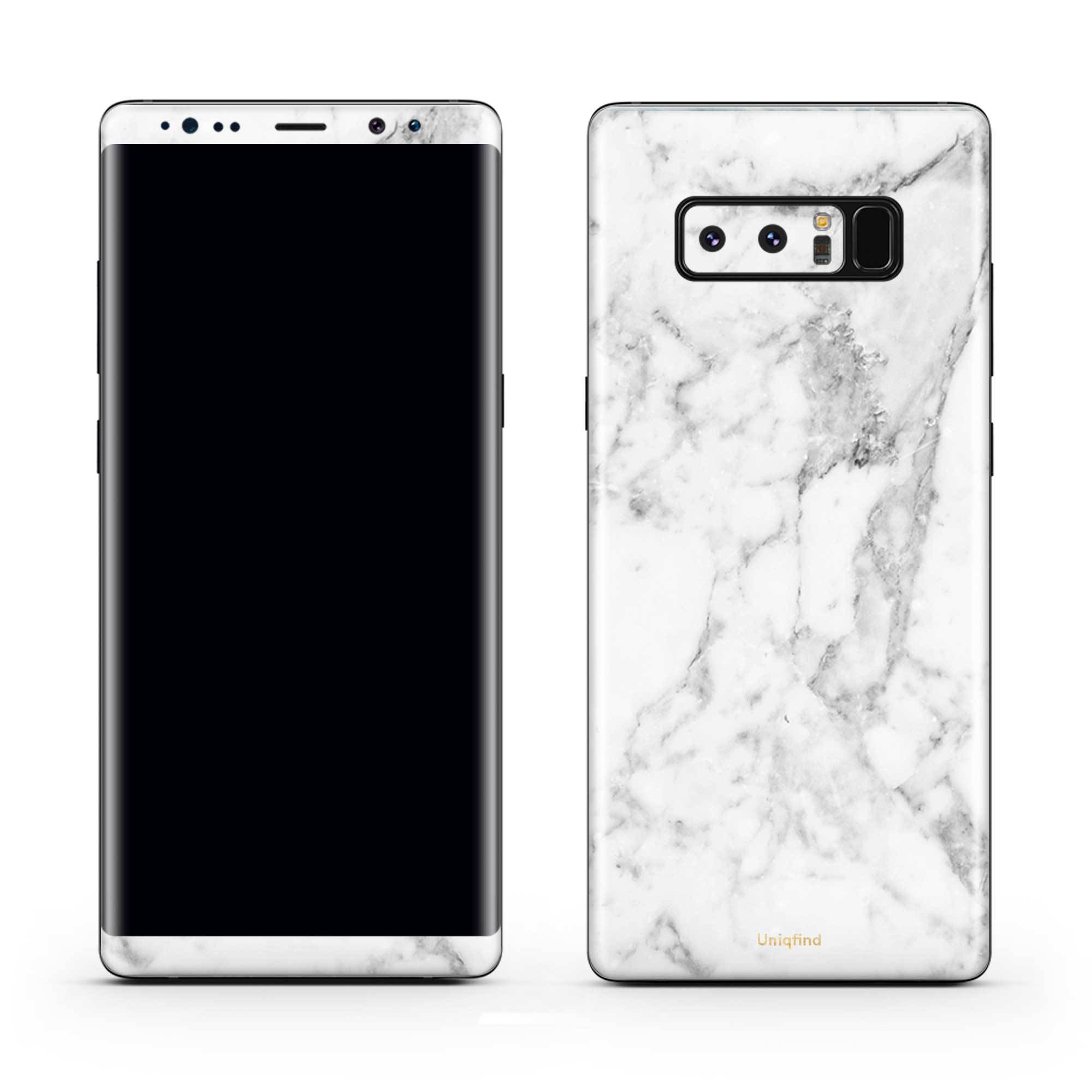 White Marble Galaxy Note 8 Skin + Case