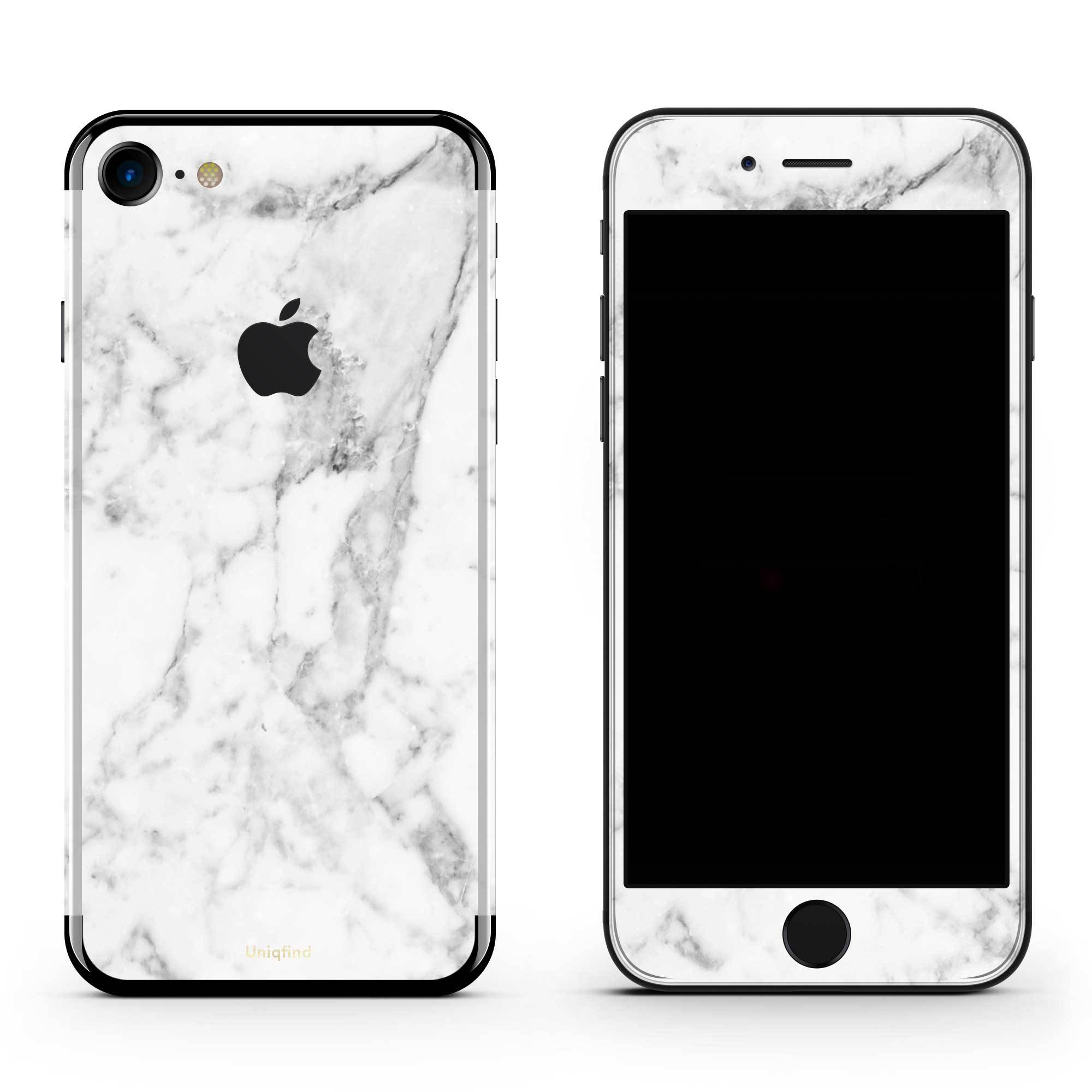 White Marble iPhone 8 Skin + Case