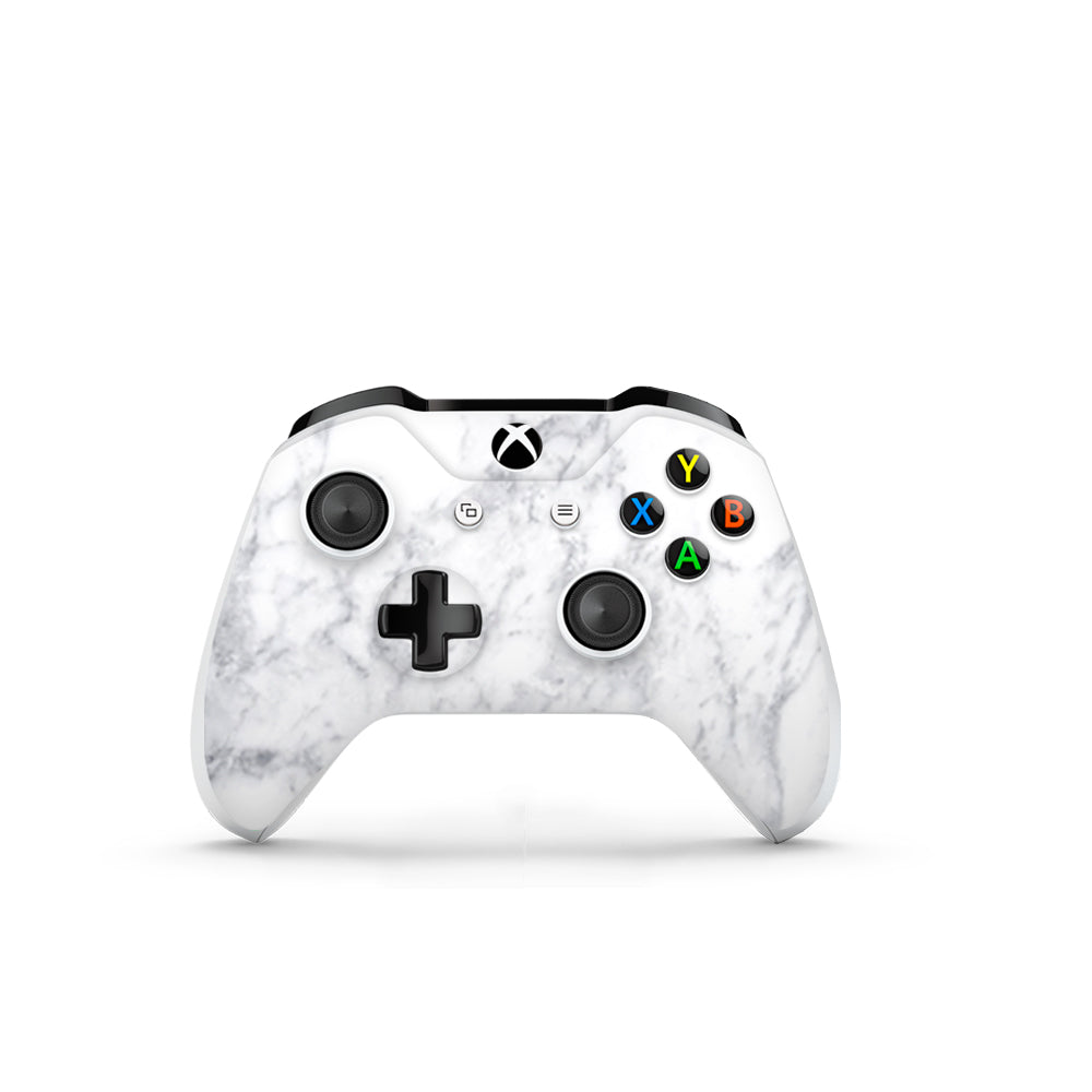 White Marble Xbox One S Controller Skin