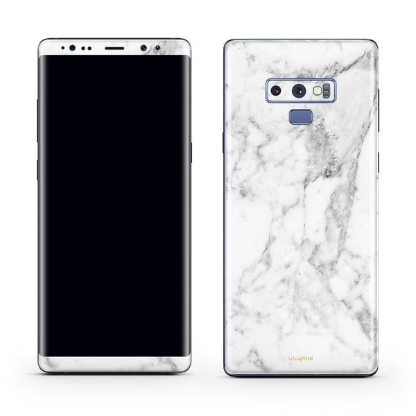 White Marble Skin for Galaxy Note 9
