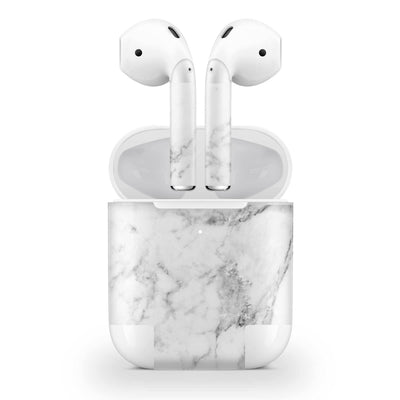 White Marble Skin AirPods Wireless Charging Case