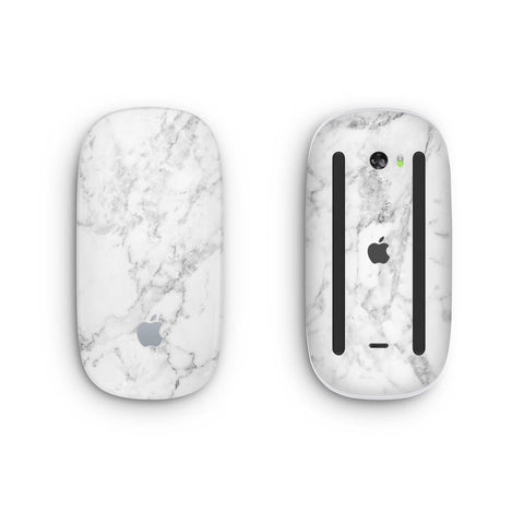 White Marble Magic Mouse 2 Skin