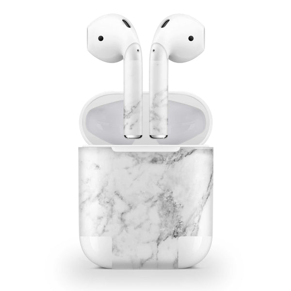White Marble Skin AirPods