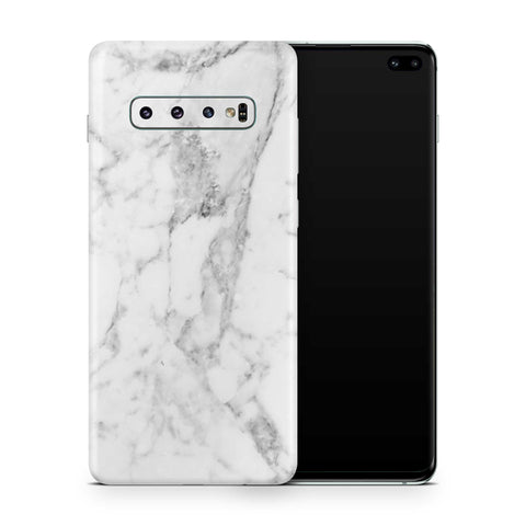 White Marble Skin Samsung S10 and S10 Plus and S10e