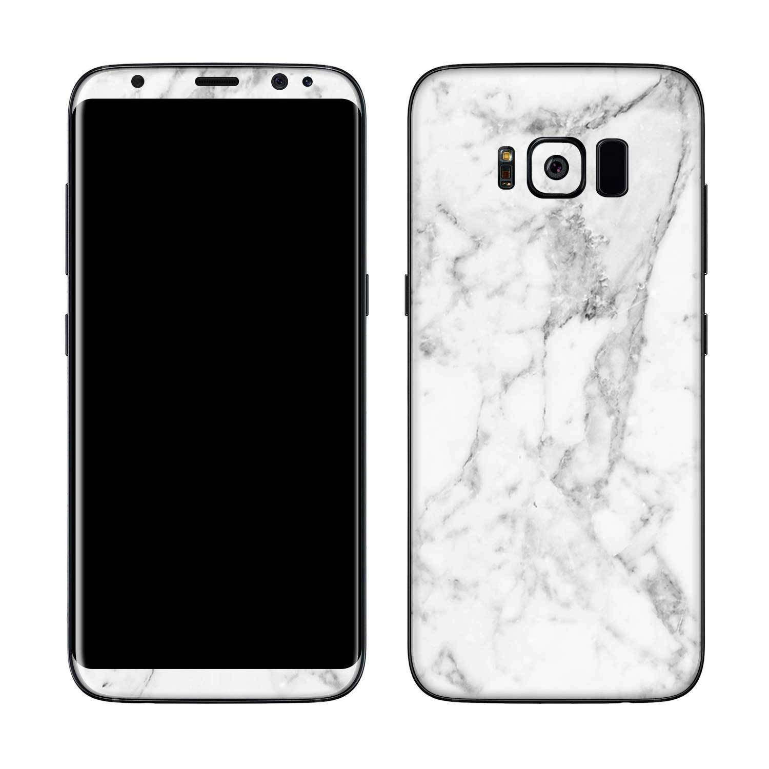White Marble Galaxy S8 Plus Skin + Case