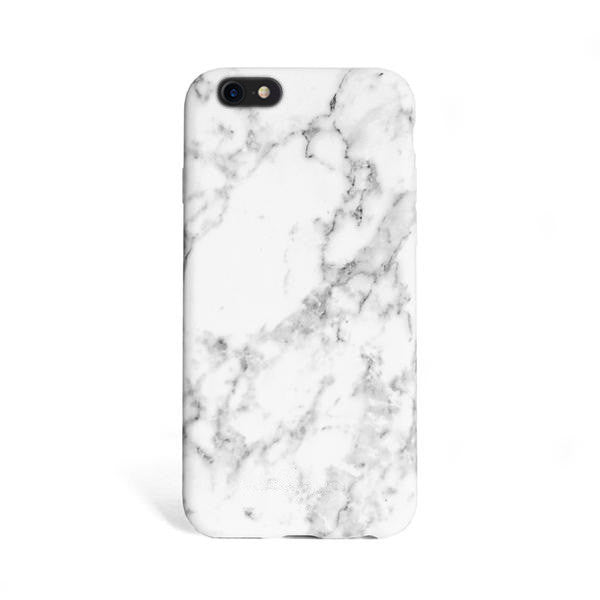 Matte Marble iPhone Case - White  6b20774ef