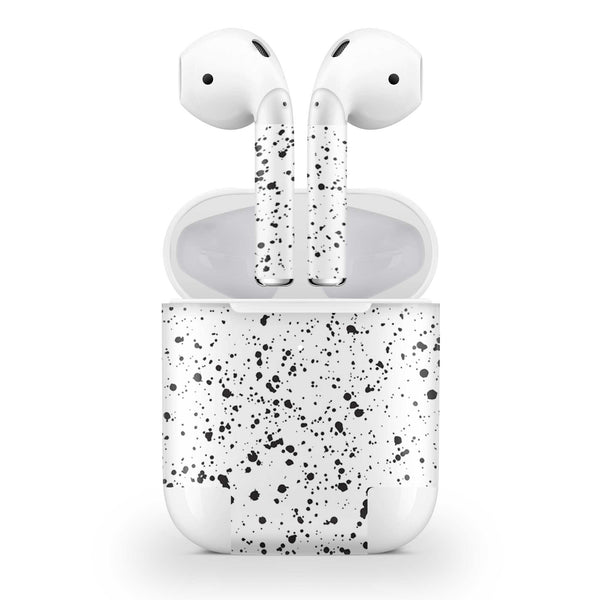 White Speckle Skin AirPods Wireless Charging Case