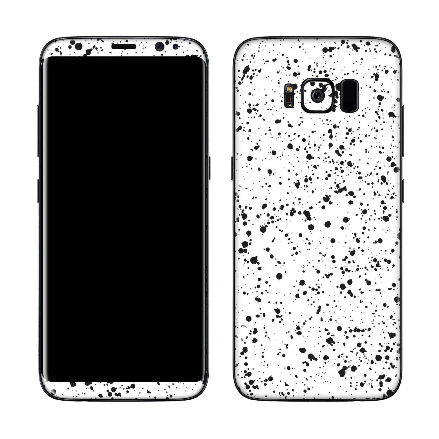 White Speckle Galaxy S8 Plus Skin + Case