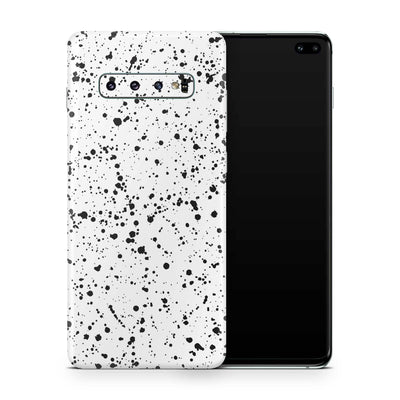 White Speckle Galaxy S10e Skin + Case