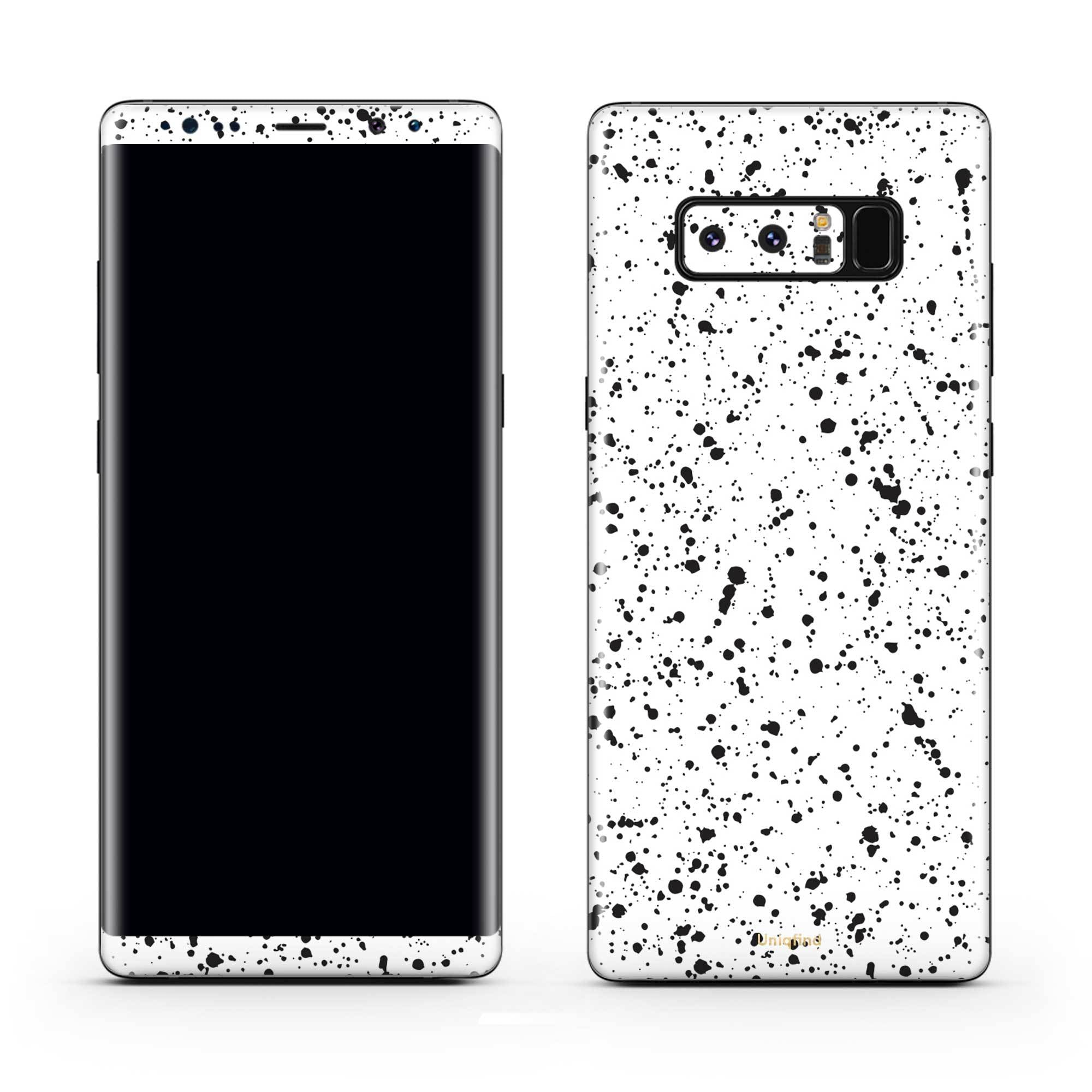 White Speckle Galaxy Note 8 Skin + Case