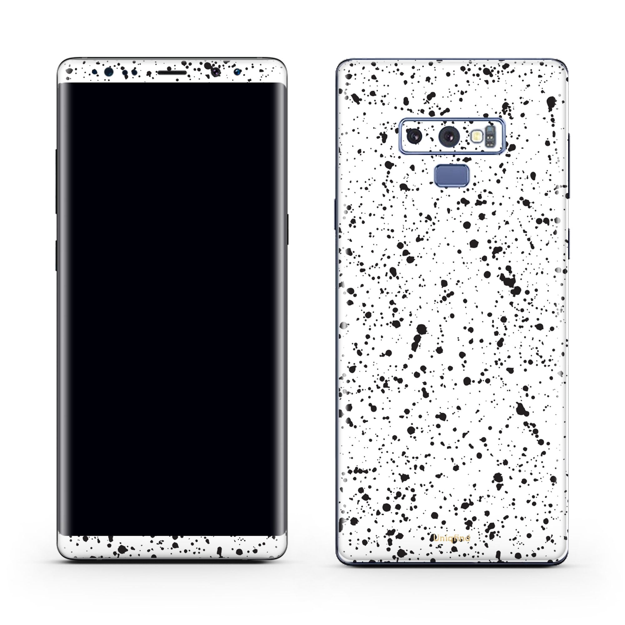 White Speckle Galaxy Note 9 Skin + Case