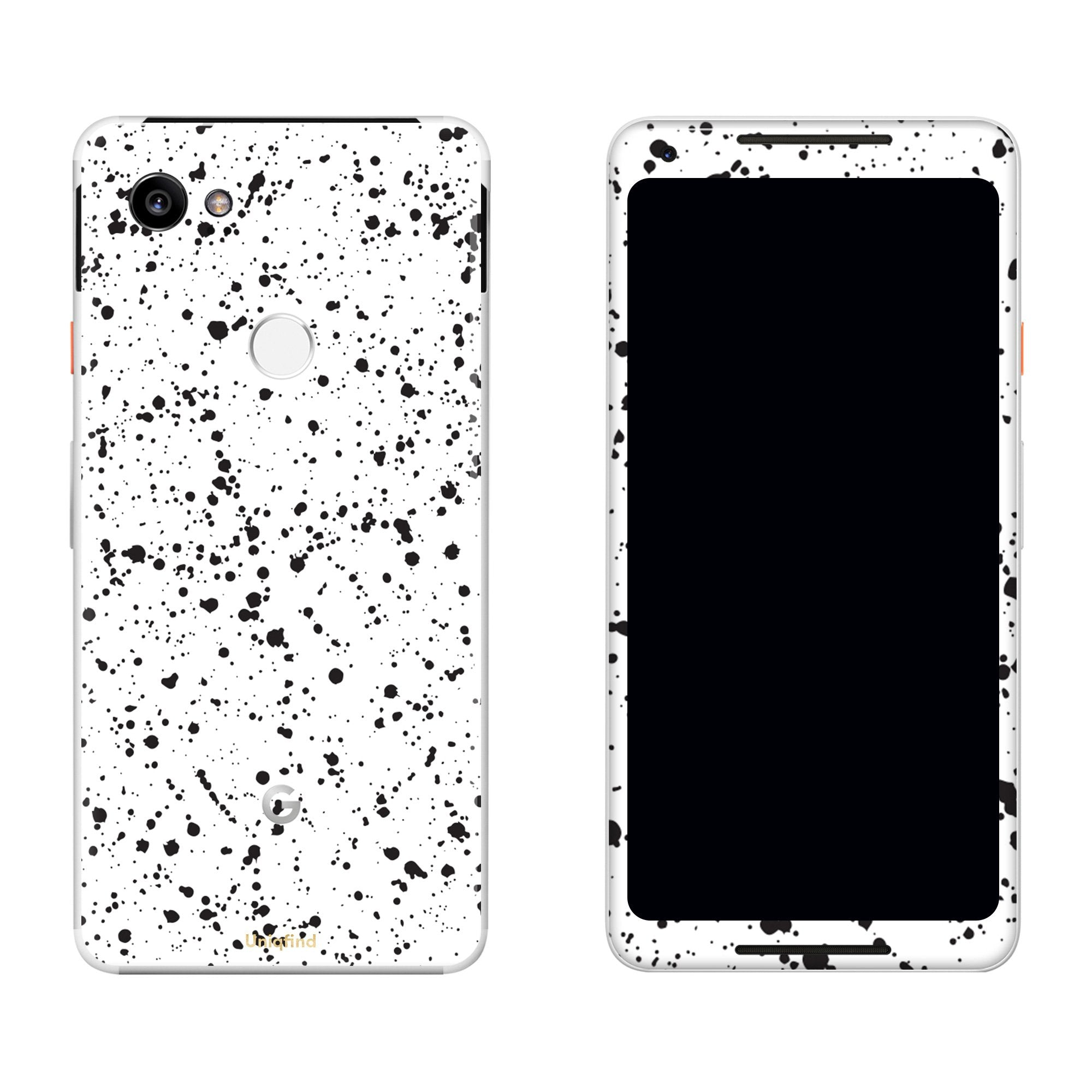 White Speckle Pixel 2 XL Skin + Case