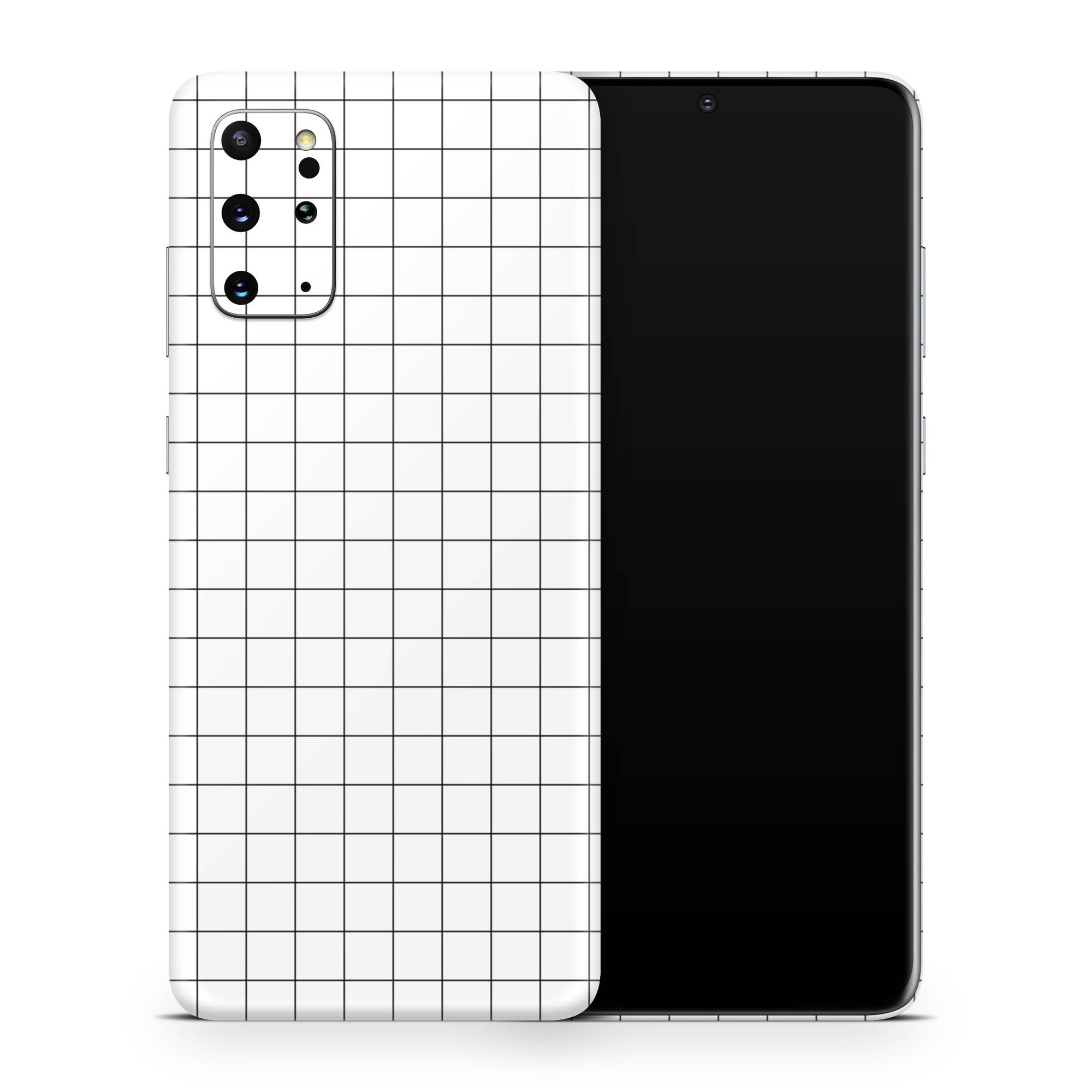 White Grid Line Galaxy S20 Ultra Skin + Case-Uniqfind