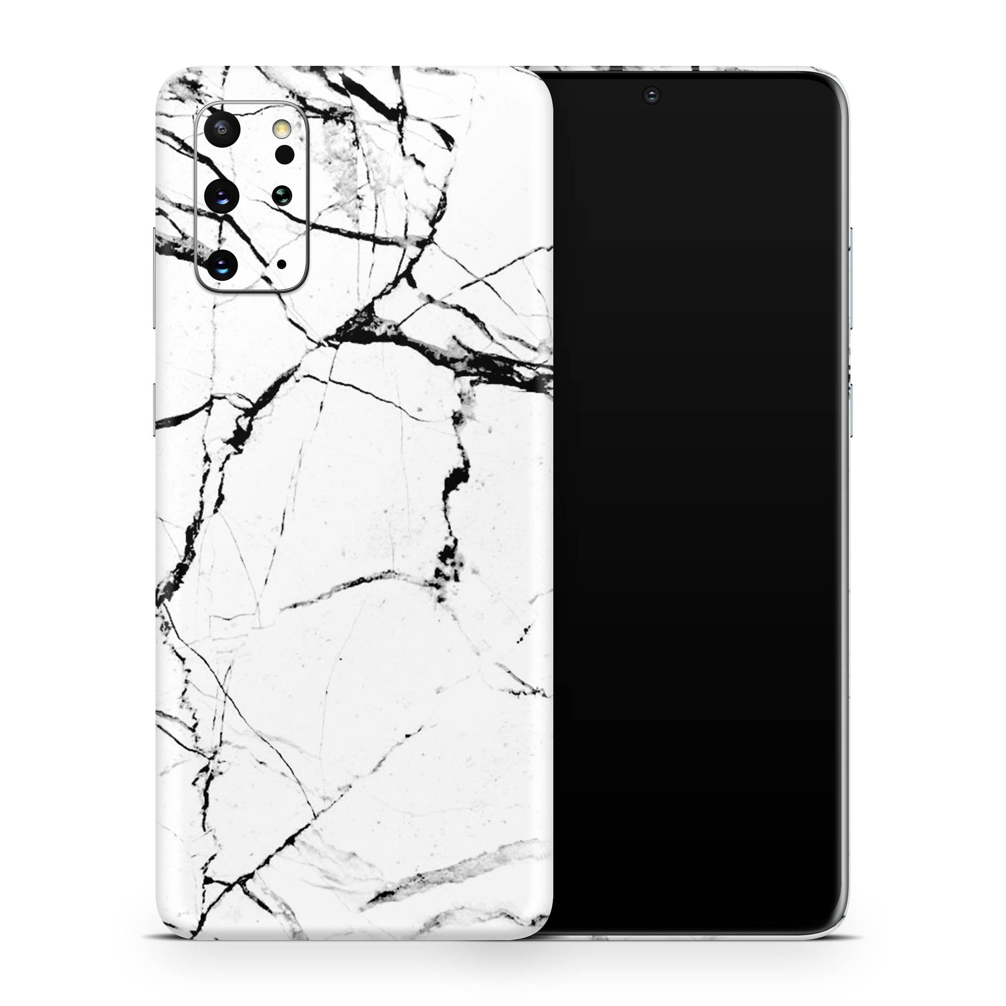 White Hyper Marble Galaxy S20 Ultra Skin + Case-Uniqfind