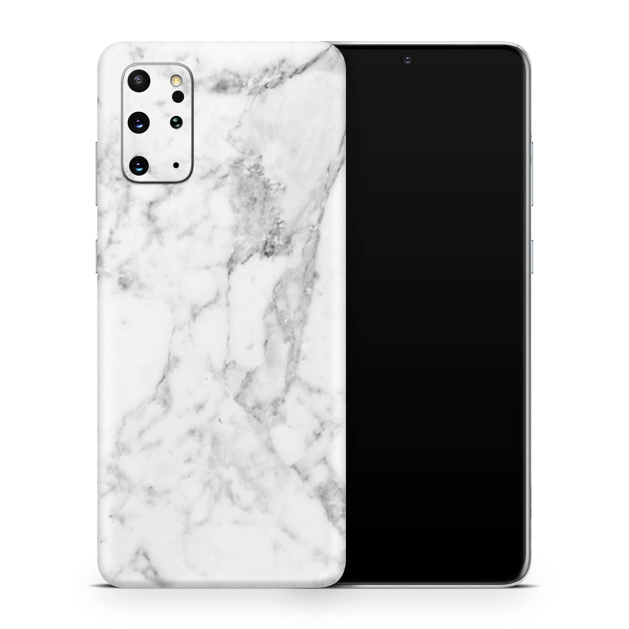 White Marble Galaxy S20 Plus Skin + Case-Uniqfind