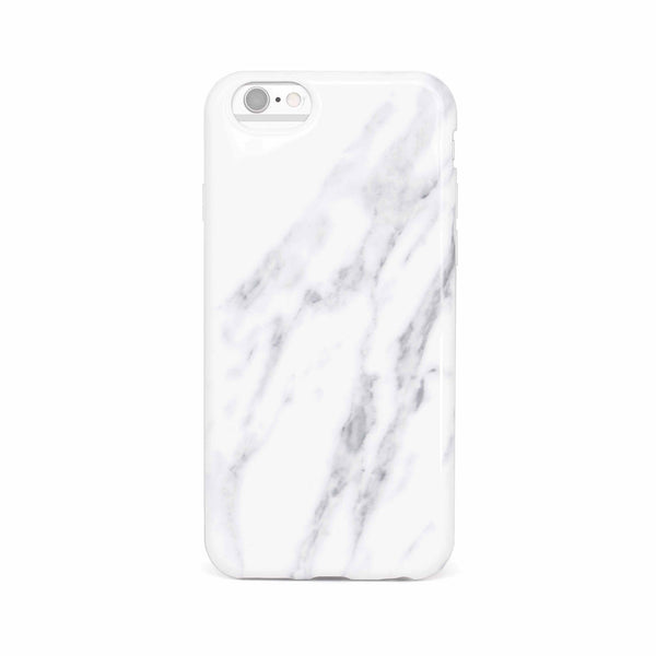 Ultra-Lux Glossy Marble iPhone Case - White