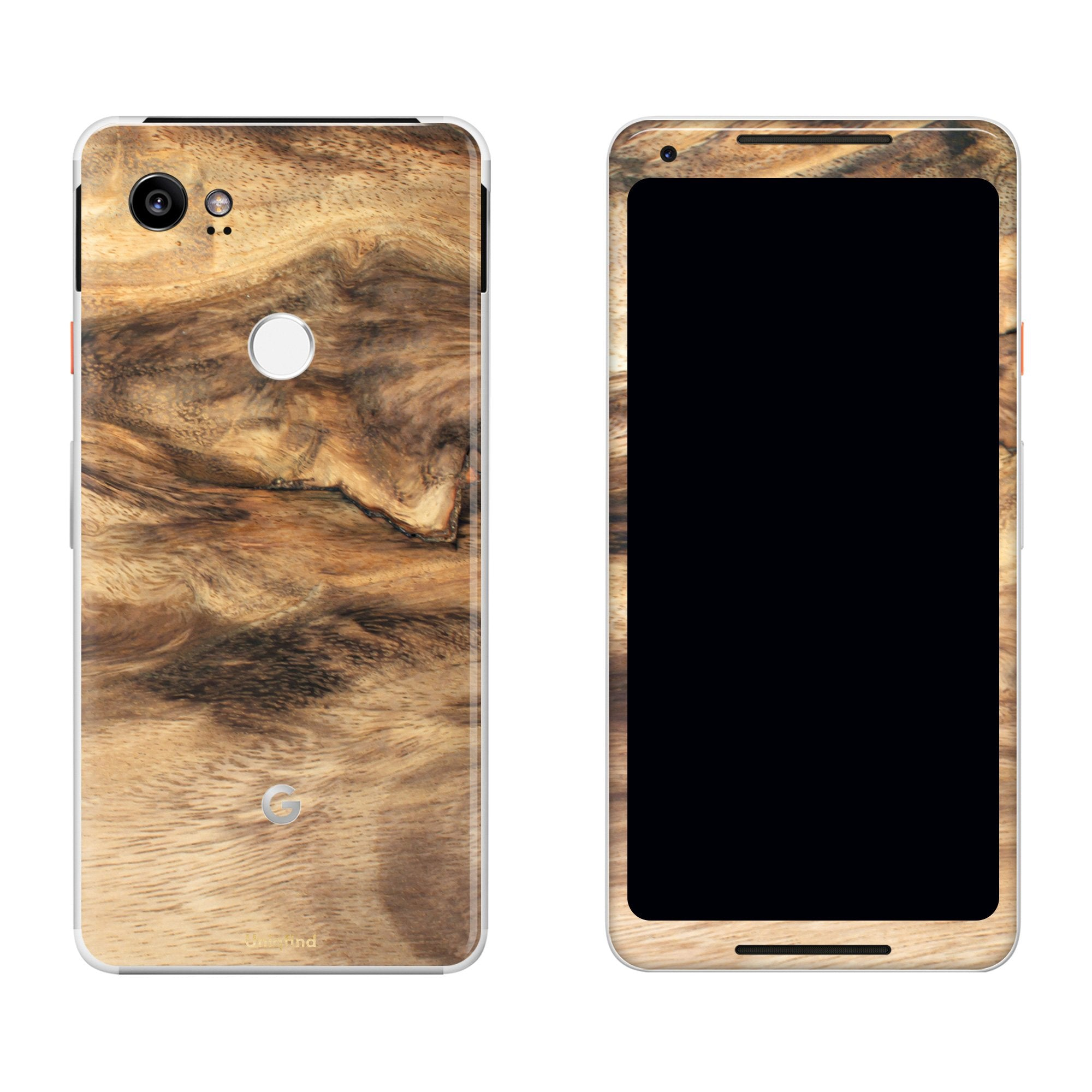 Wood Pixel 2 XL Skin + Case