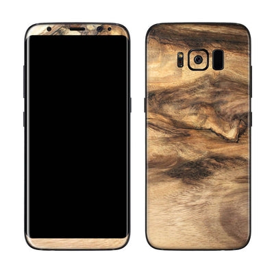 Wood Galaxy S8 Plus Skin + Case