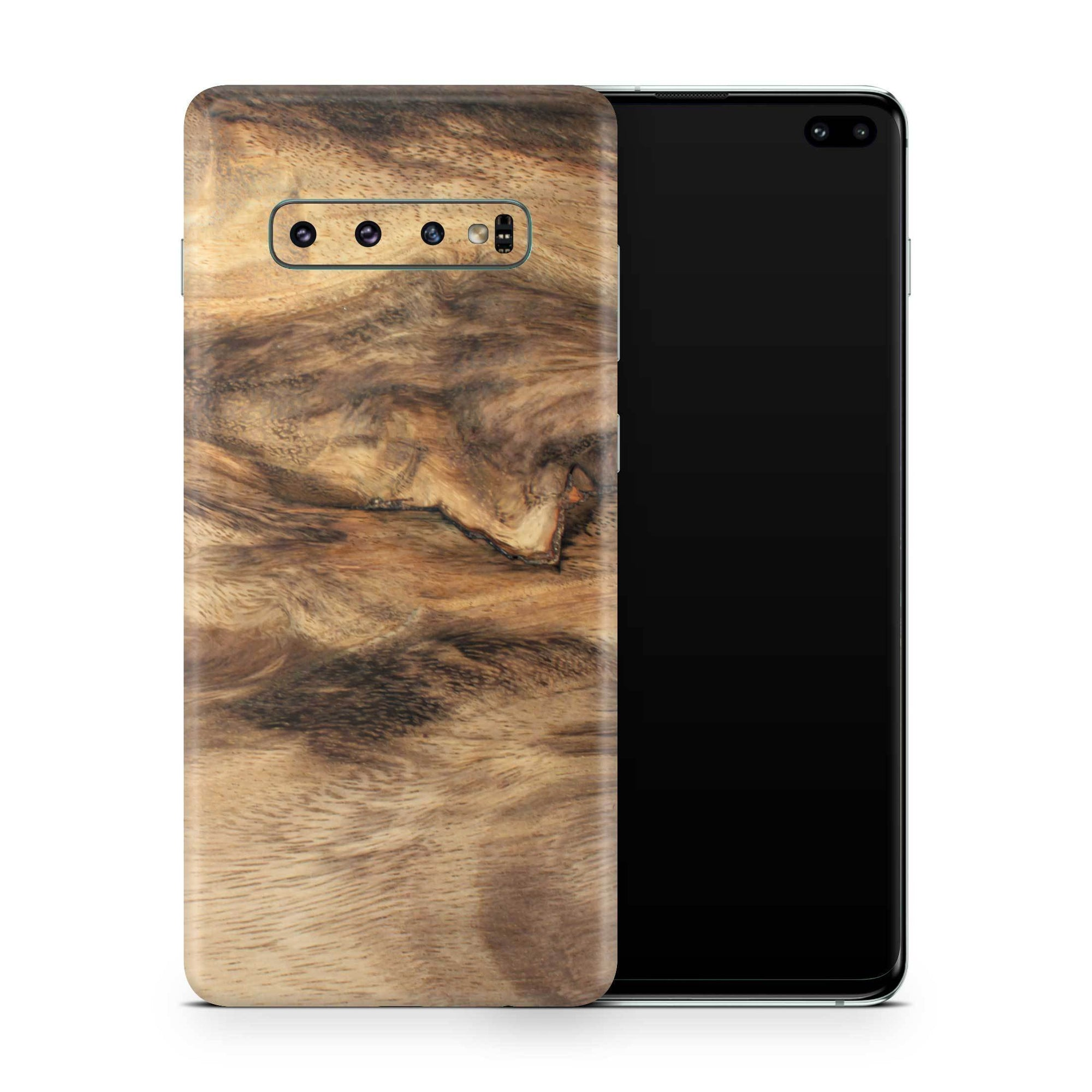 Wood Galaxy S10 Plus Skin + Case