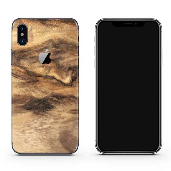 Wood iPhone X Skins and Cases