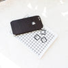 Black Grid Line iPhone XS Skin + Case