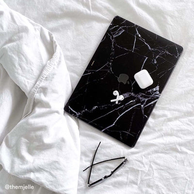 Black Hyper Marble MacBook Case + Skin for Air 11-inch (2012-2017)
