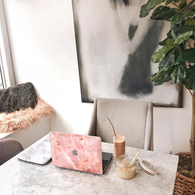 Blush Marble MacBook Case + Skin for 13-inch