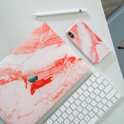Coral Marble MacBook Case + Skin for Pro 13-inch (Touch Bar, 2016-2019)