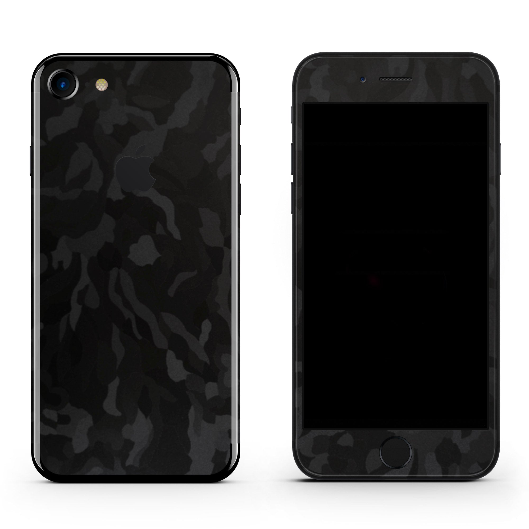 Black Camo iPhone 7 Skin + Case