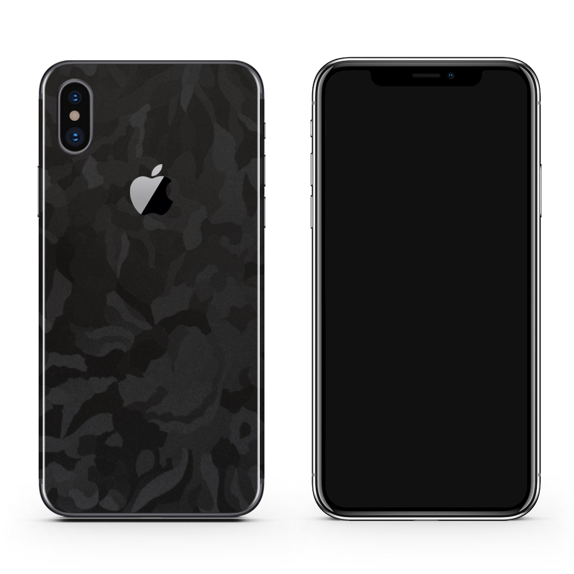 Black Camo iPhone XS Max Skin + Case