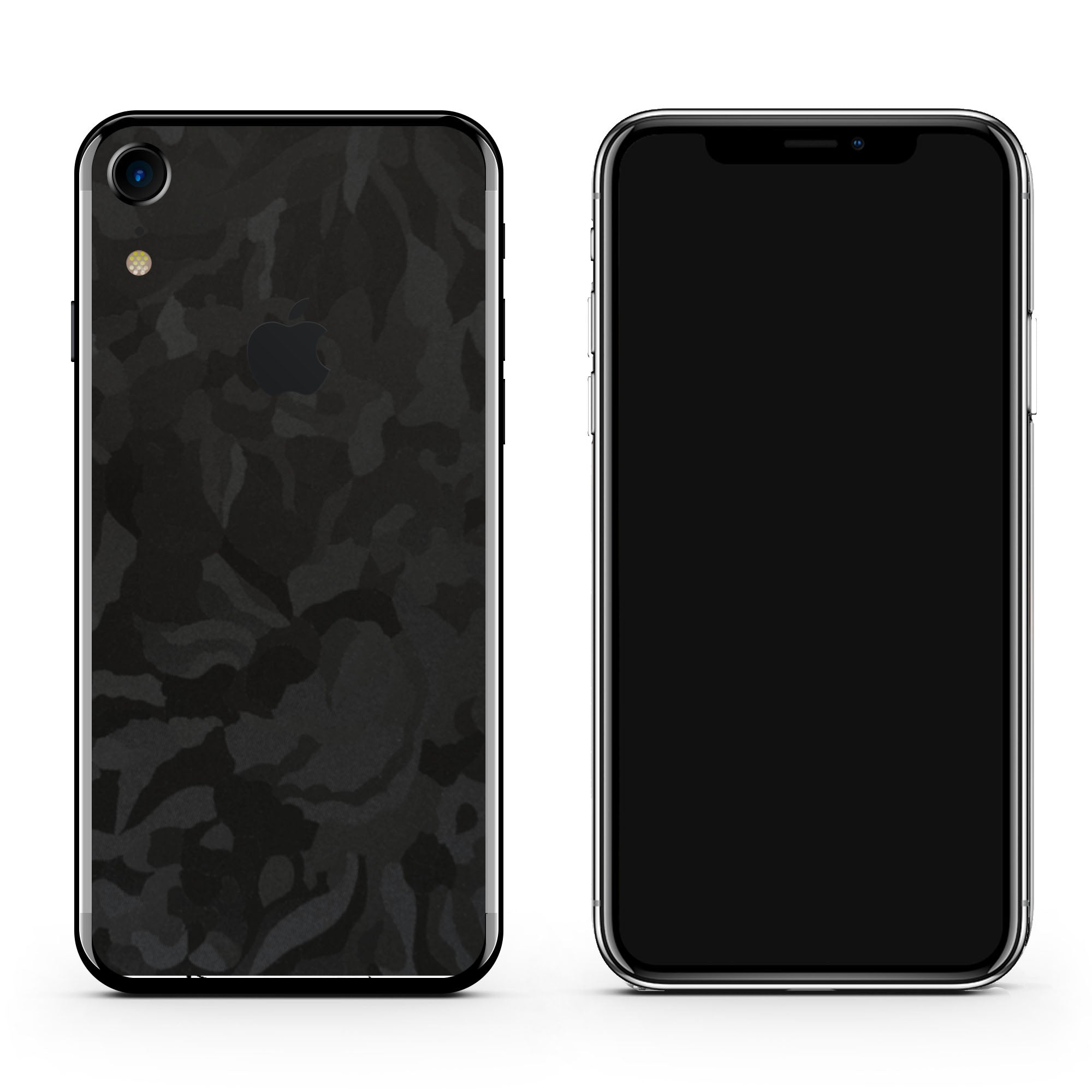 Black Camo iPhone XR Skin + Case