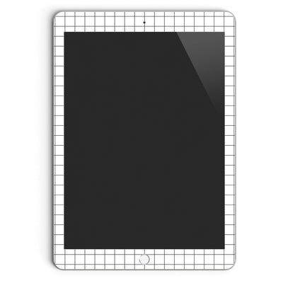 iPad Skin 9.7-inch (1st Gen, 2010) in White Grid