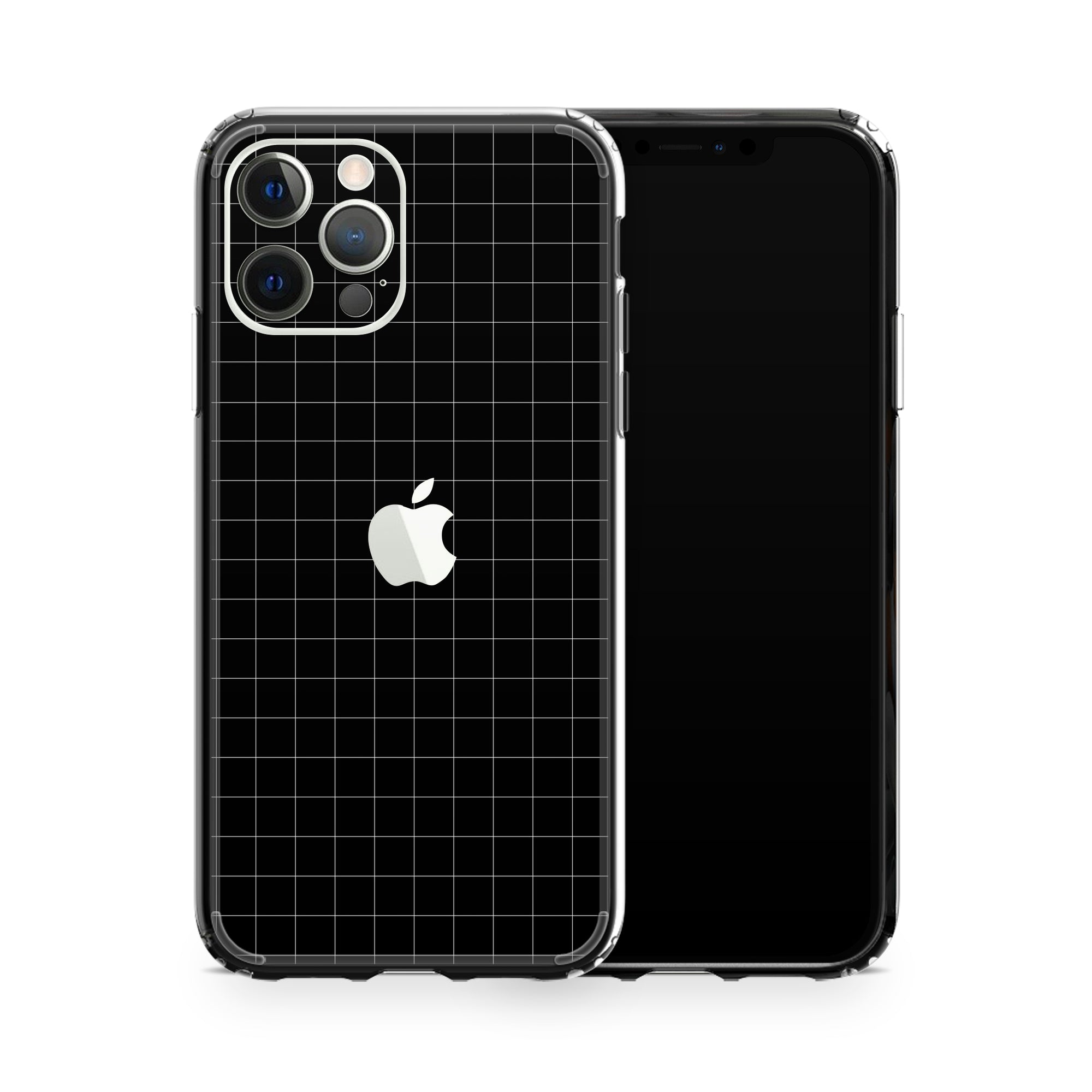 iPhone Case 12 Pro Black Grid