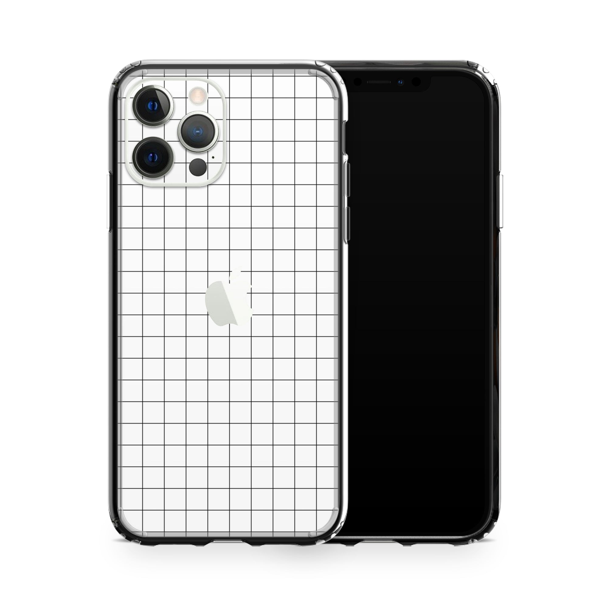 iPhone Case 12 Pro Max White Grid