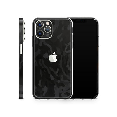 iPhone Case 12 Pro Max Black Camo