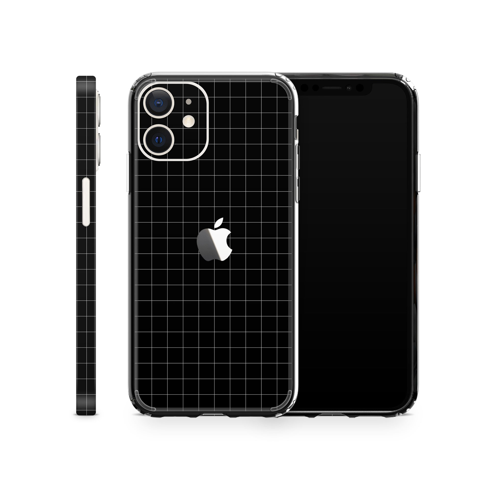 iPhone Case 12 Mini Black Grid