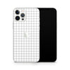iPhone Case Skin 12 Pro Max White Grid