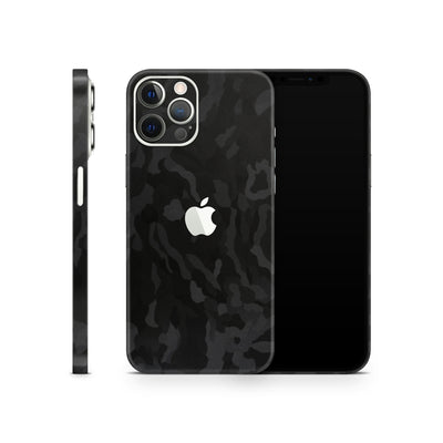 iPhone Case Skin 12 Pro Max Black Camo