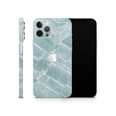 iPhone Case Skin 12 Pro Mint Marble
