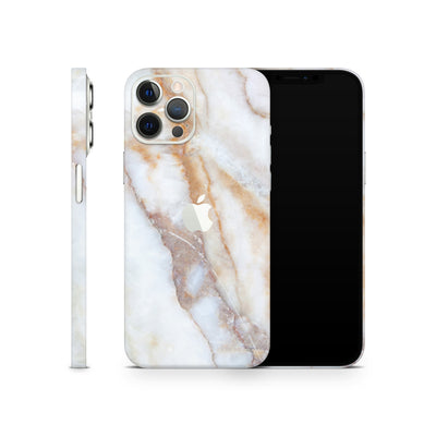 iPhone Case Skin 12 Pro Vanilla Marble