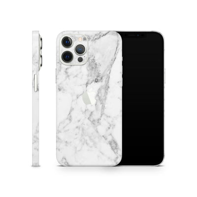 iPhone Case Skin 12 Pro White Marble
