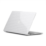 White Grid MacBook Cover