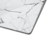 White Hyper Marble MacBook Skin + Case